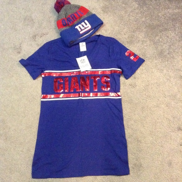 PINK Victoria's Secret Tops - VS Pink NFL collection NY Giants